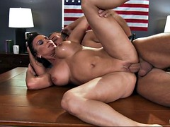 milf pornstar diamond foxxx takes his fat flannel in her close-fisted pussy