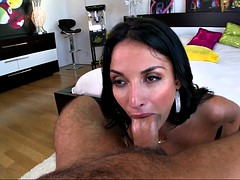 anissa kate titty fucked their way lover and sucked his fat cock