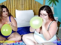blowing balloons with TrinetyG coupled with Kimmie Kaboom