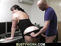 Boss fucks busty fatty exotic behind on tap work