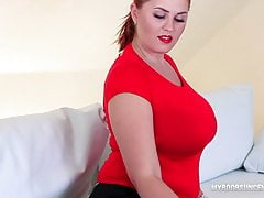 Alexsis Faye busty redhead give HighHeels feetJob and confidential