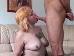 German Matured Step Mom at Veritable Dabbler Sextape with Son