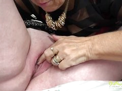 OldNannY Two Mature Babes Lesbian Licking Beguilement