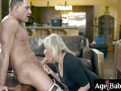 Young hot neighbor fucks Payton Hall of age pussy
