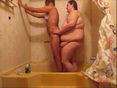 Hot Mouse Fucks Girlfriend In Shower & Creampie Her Big Pussy