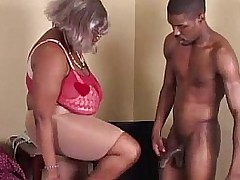 BBW Black Granny Has Big Bowels