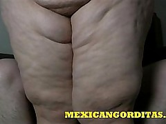 MEXICANGORDITAS.COM ALONDRA Feature SITS THEN GETS CREAMPIED