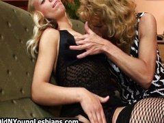 Horny blonde mature wife showing her two