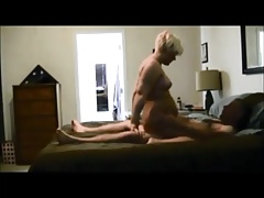 Blonde wife above hiddencam