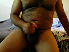 Unsustained my big cock in classic gooey cum from